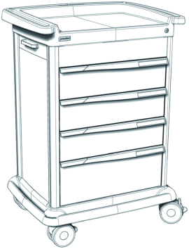 Preciso Nr. 9-X with Drawers or Drawer-frames